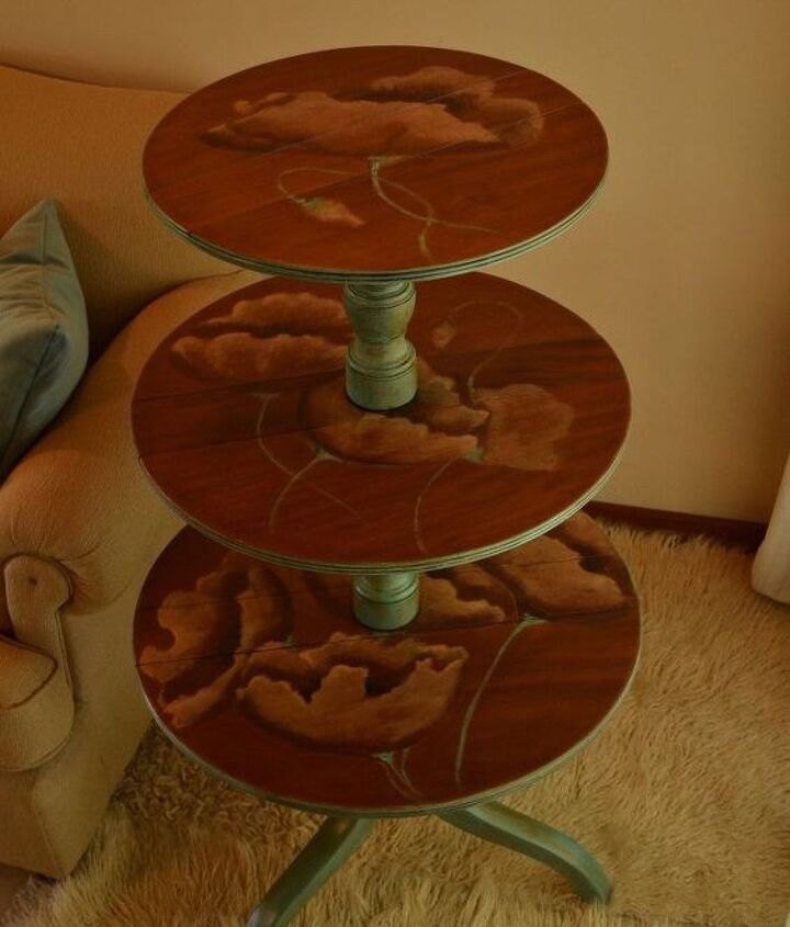 an unusual table, painted furniture