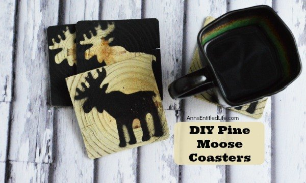 pine moose coasters christmas decorations crafts home decor woodworking projects - Christmas Moose Home Decor