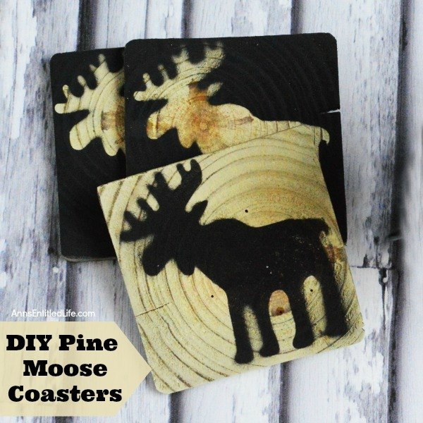 pine moose coasters, christmas decorations, crafts, home decor, woodworking projects