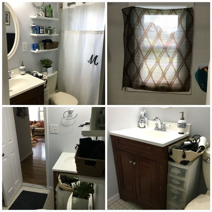 Before And After Bathroom Makeovers On A Budget: Low Budget Bathroom Makeover (Phase 1)
