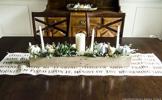 fall centerpiece with chalk paint pumpkins, chalk paint, home decor, painting, thanksgiving decorations