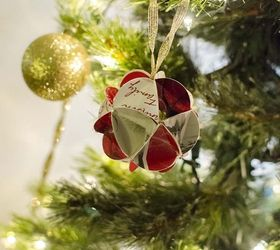 christmas card ornaments