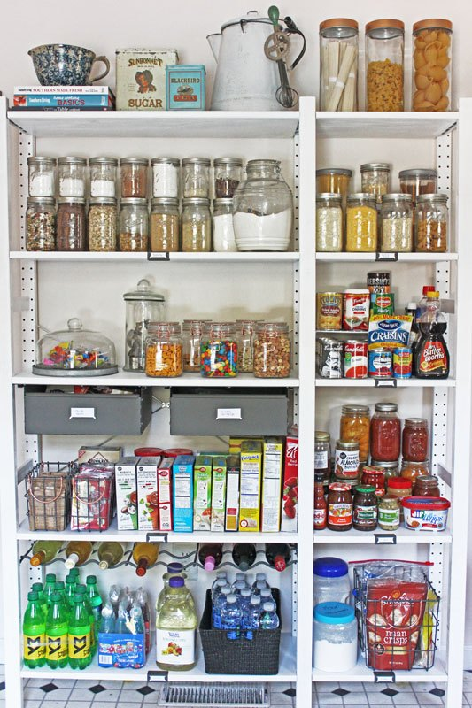 Create An Open Shelving Pantry With Ikea Shelves | Hometalk on ikea tall cabinet with pull out, ikea storage containers, ikea garage cabinets, ikea kitchen, ikea closet units, ikea closet systems, ikea laundry room cabinets, ikea standing closets, ikea basement kitchenette,