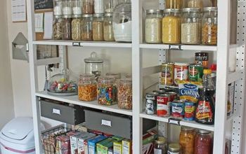 create an open shelving pantry with ikea shelves, closet, kitchen cabinets, shelving ideas, storage ideas