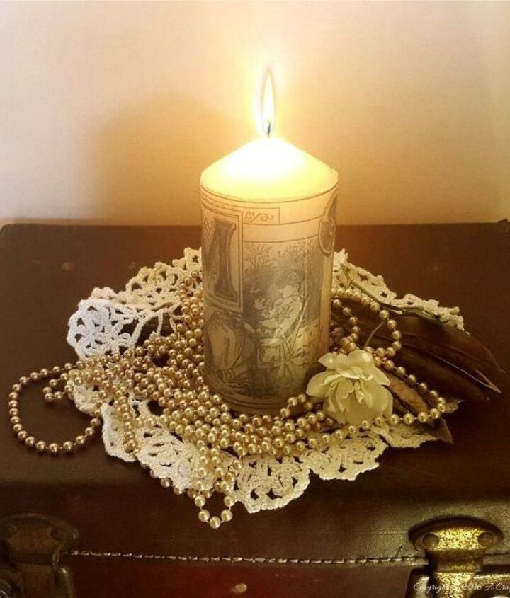 s 15 simple candle transformations you need to try this season, Blow dry a vintage image onto them