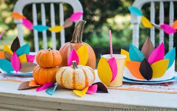 kids thanksgiving table craft, crafts, painted furniture
