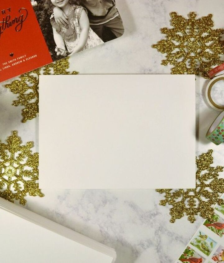 personalize your holiday cards with washi tape paint , christmas decorations, crafts