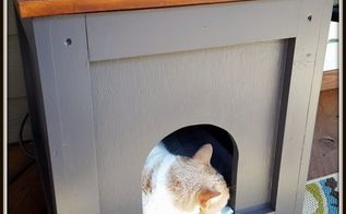 how to make a cat house end table, how to, painted furniture