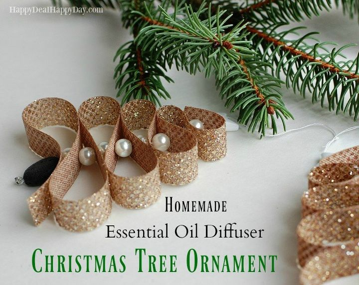 homemade essential oil diffuser christmas tree ornament christmas decorations seasonal holiday decor