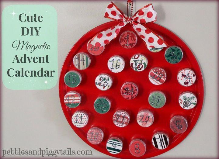 diy magnetic christmas calendar