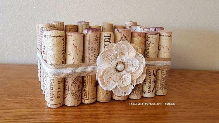 Make A Basket Out Of Wine Corks Hometalk