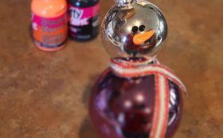 fun diy snowman christmas ornament, christmas decorations, seasonal holiday decor