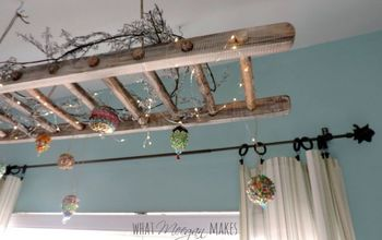 How To Hang A Vintage Ladder as Home Decor