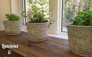 give your windowsill a reclaimed wood finish , The completed reclaimed wood windowsill