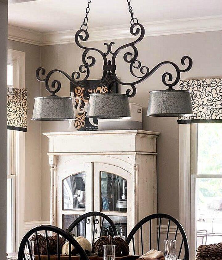 updated farmhouse kitchen light fixture, kitchen design