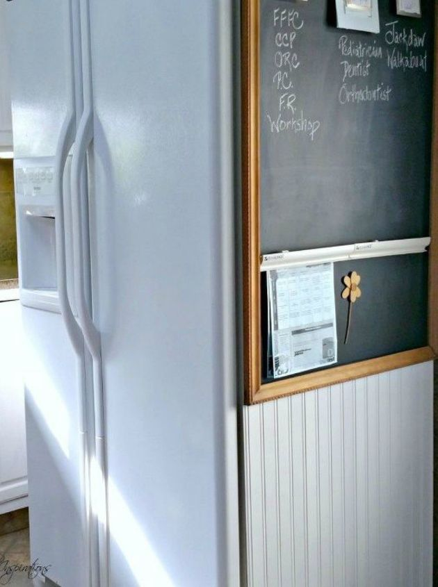s take picture frames off your walls for these 15 brilliant ideas, Turn it into a family center chalkboard