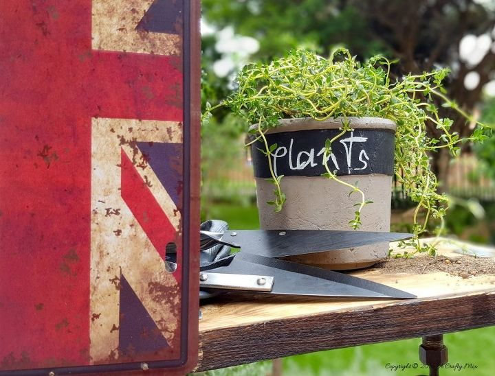 diy make a mini potting shed, gardening, outdoor living
