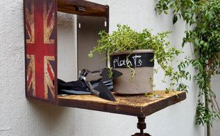 diy make a mini potting shed, gardening, outdoor living
