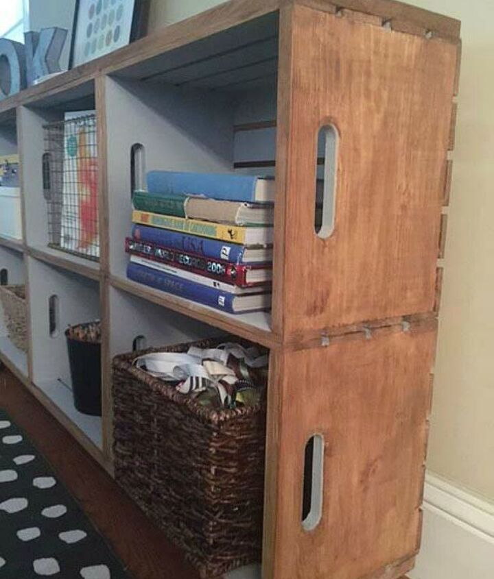 s here s how to get a mudroom when you don t have an entryway 13 ideas , foyer, how to, Grab some crates and build a rolling station