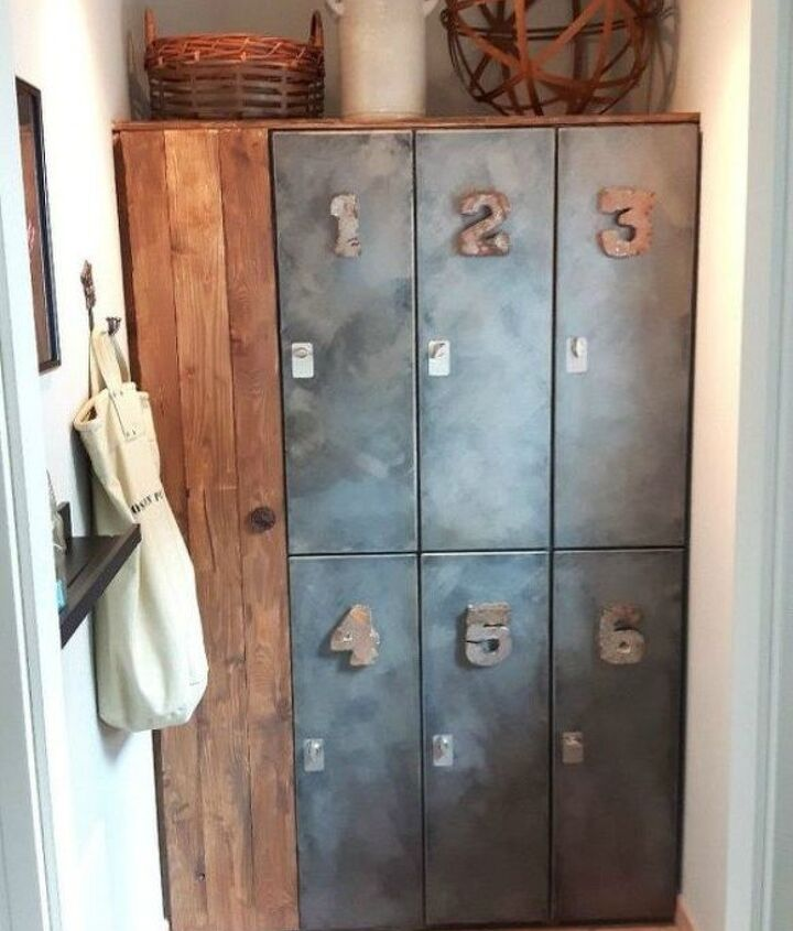 s here s how to get a mudroom when you don t have an entryway 13 ideas , foyer, how to, Place used lockers in your laundry room