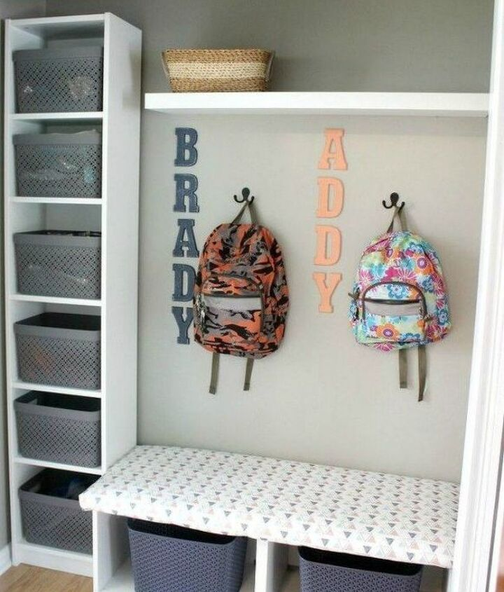 s here s how to get a mudroom when you don t have an entryway 13 ideas , foyer, how to, Transform your coat closet into one
