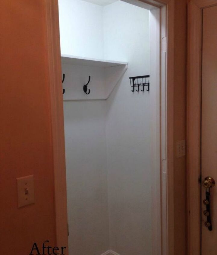 s here s how to get a mudroom when you don t have an entryway 13 ideas , foyer, how to, Just add a bunch of coat hooks