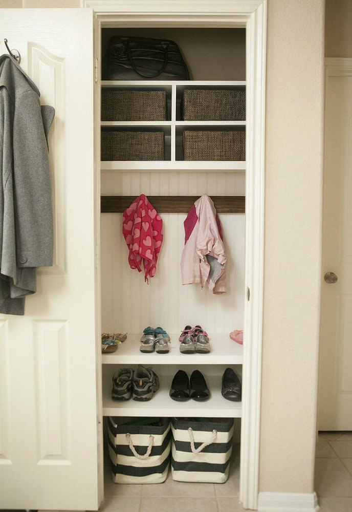 Foyer Closet For Garments : Here s how to get a mudroom when you don t have an