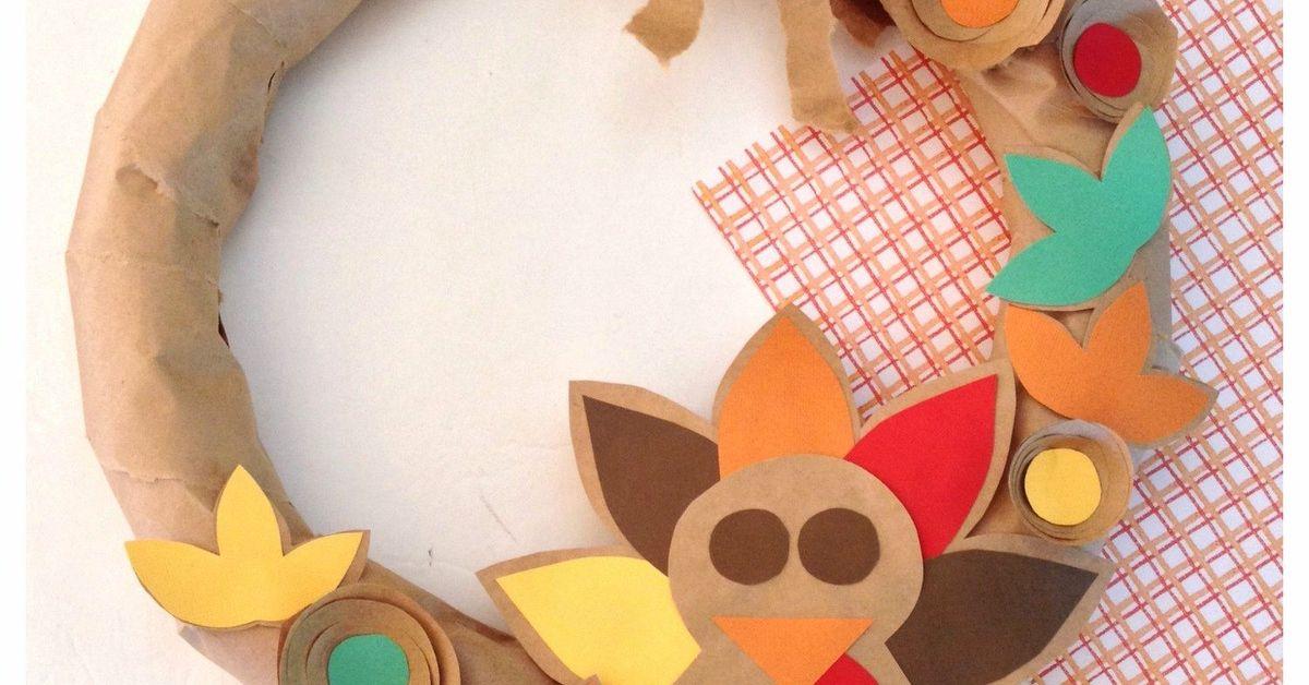 Brown Paper Bag Thanksgiving Turkey Wreath Hometalk