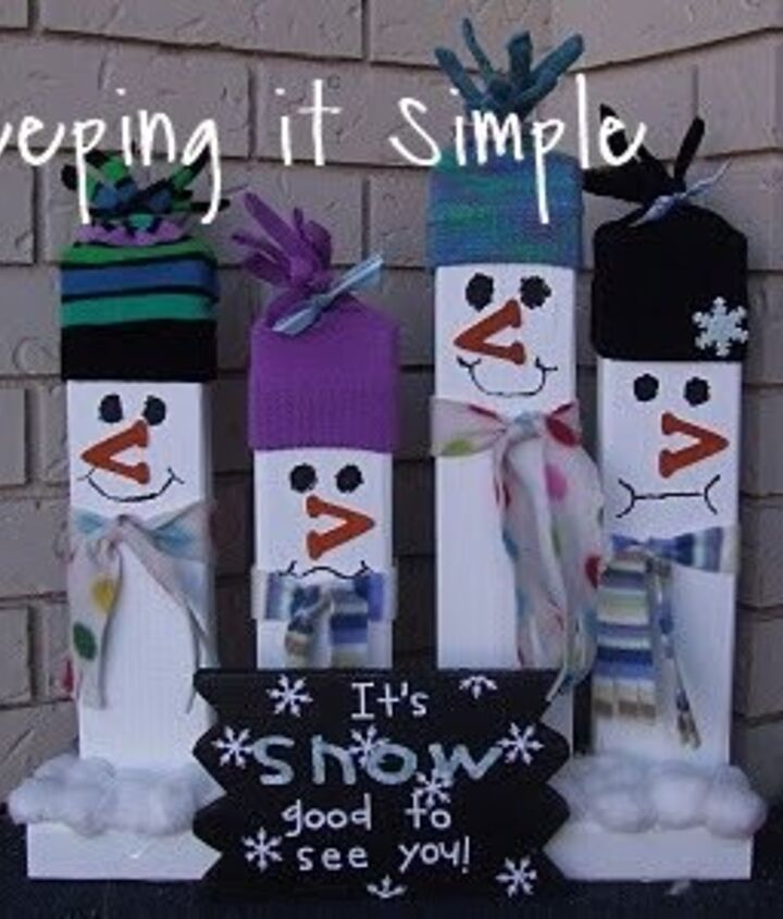 2x4 greeting snowmen