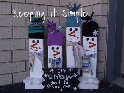 2x4 greeting snowmen