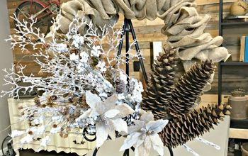make the perfect burlap wreath, crafts, wreaths