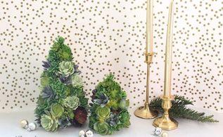 diy succulent tree, flowers, gardening, succulents