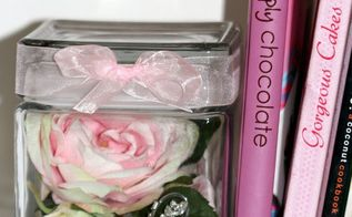 diy jar of roses bookend, flowers, gardening