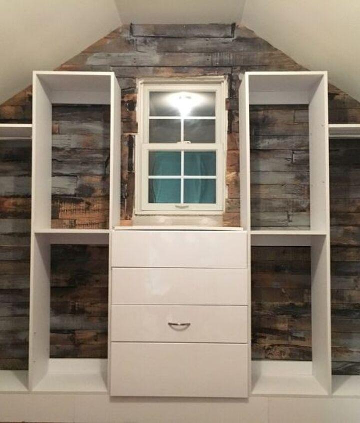 slanted closet ceiling solved , closet, wall decor