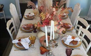 thanksgiving tablescape idea, seasonal holiday decor, thanksgiving decorations