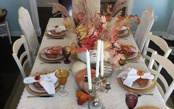 thanksgiving tablescape idea, seasonal holiday decor, thanksgiving decorations