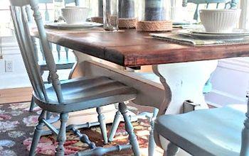 Rustic Farmhouse Trestle Table Makeover