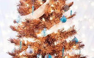 metallic copper christmas tree