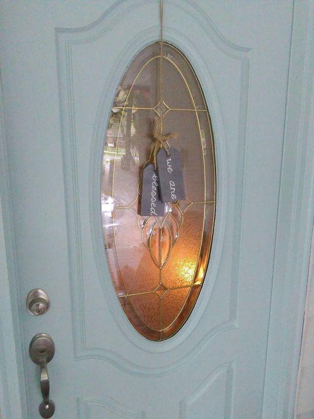 a front door alternative to the basic wreath, crafts, doors, wreaths