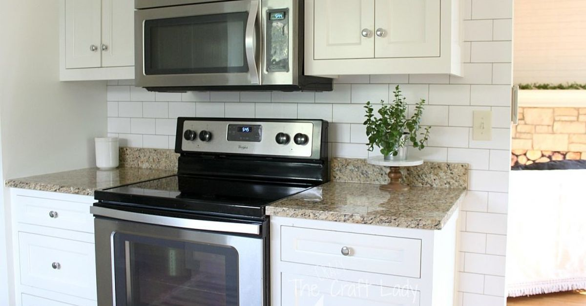 Temporary Removable Backsplash