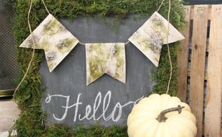 how to make a rustic moss chalkboard, chalkboard paint, crafts, how to