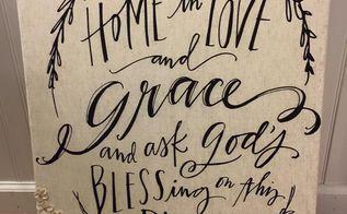 love grace tea towel wall decor, bathroom ideas, home decor, wall decor