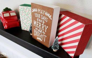 diy scrap wood christmas decor, christmas decorations, home decor