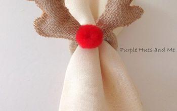 no sew deer antlers napkin ring, pets animals