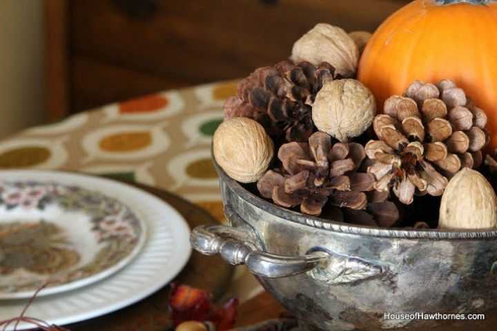 s make your thanksgiving table look amazing with these quick decor ideas, home decor, painted furniture, Pull things together from the thrift store