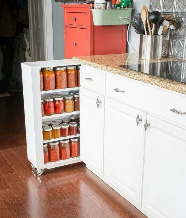 s add more pantry space with these brilliant hacks, closet, Or build your own slide out shelf