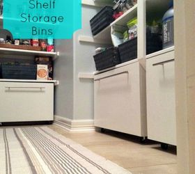 add some storage bins for under your shelves add more pantry space with these brilliant hacks   hometalk  rh   hometalk com