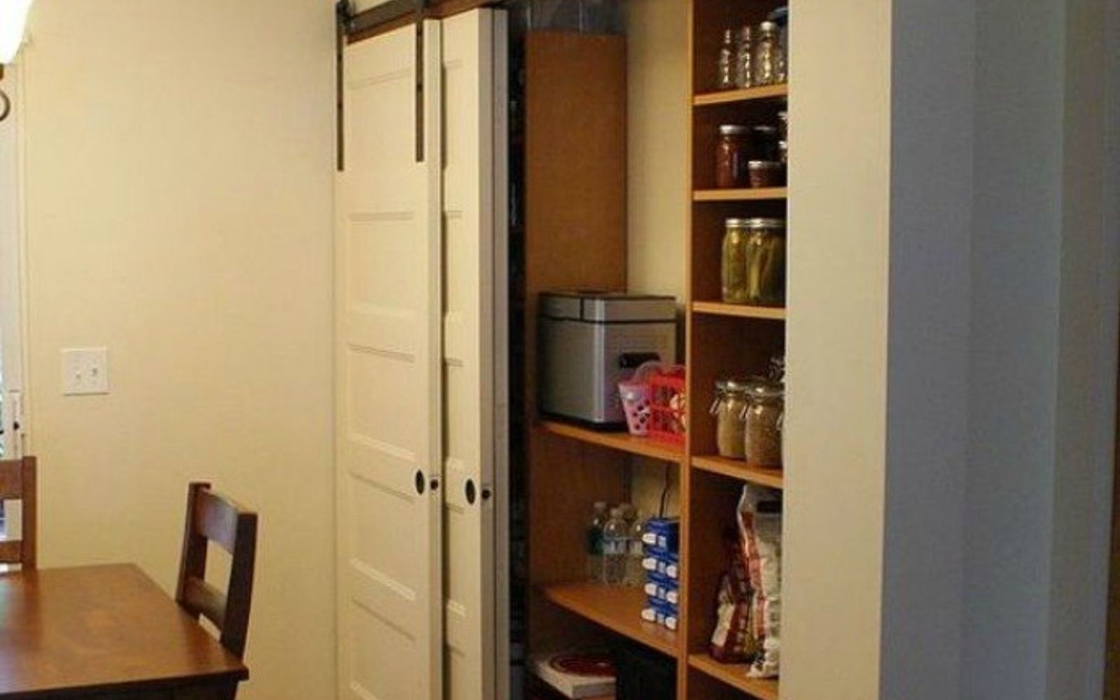 s add more pantry space with these brilliant hacks, closet, Install sliding doors to limit swing space