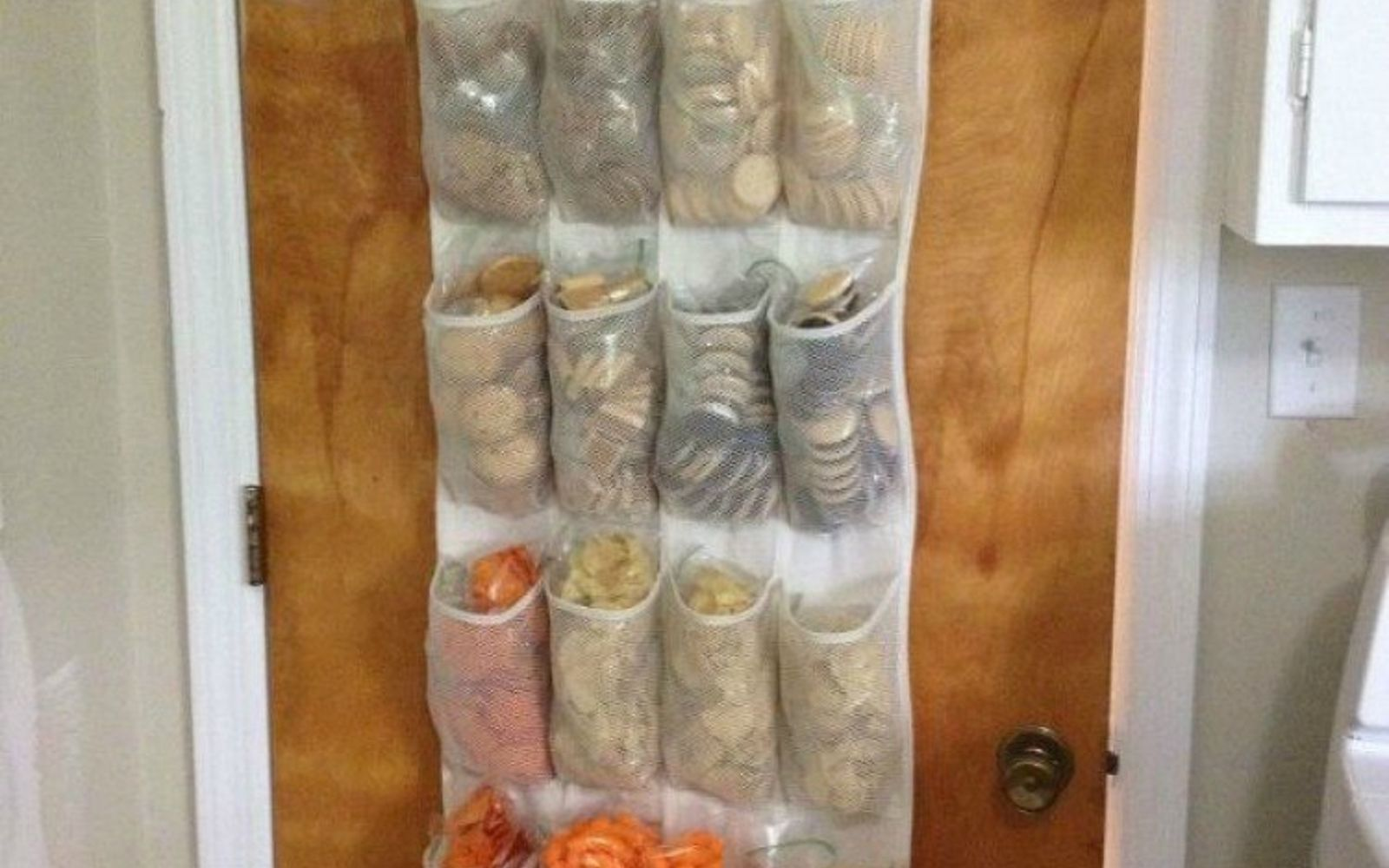 s add more pantry space with these brilliant hacks, closet, Hang a shoe hanger for more space