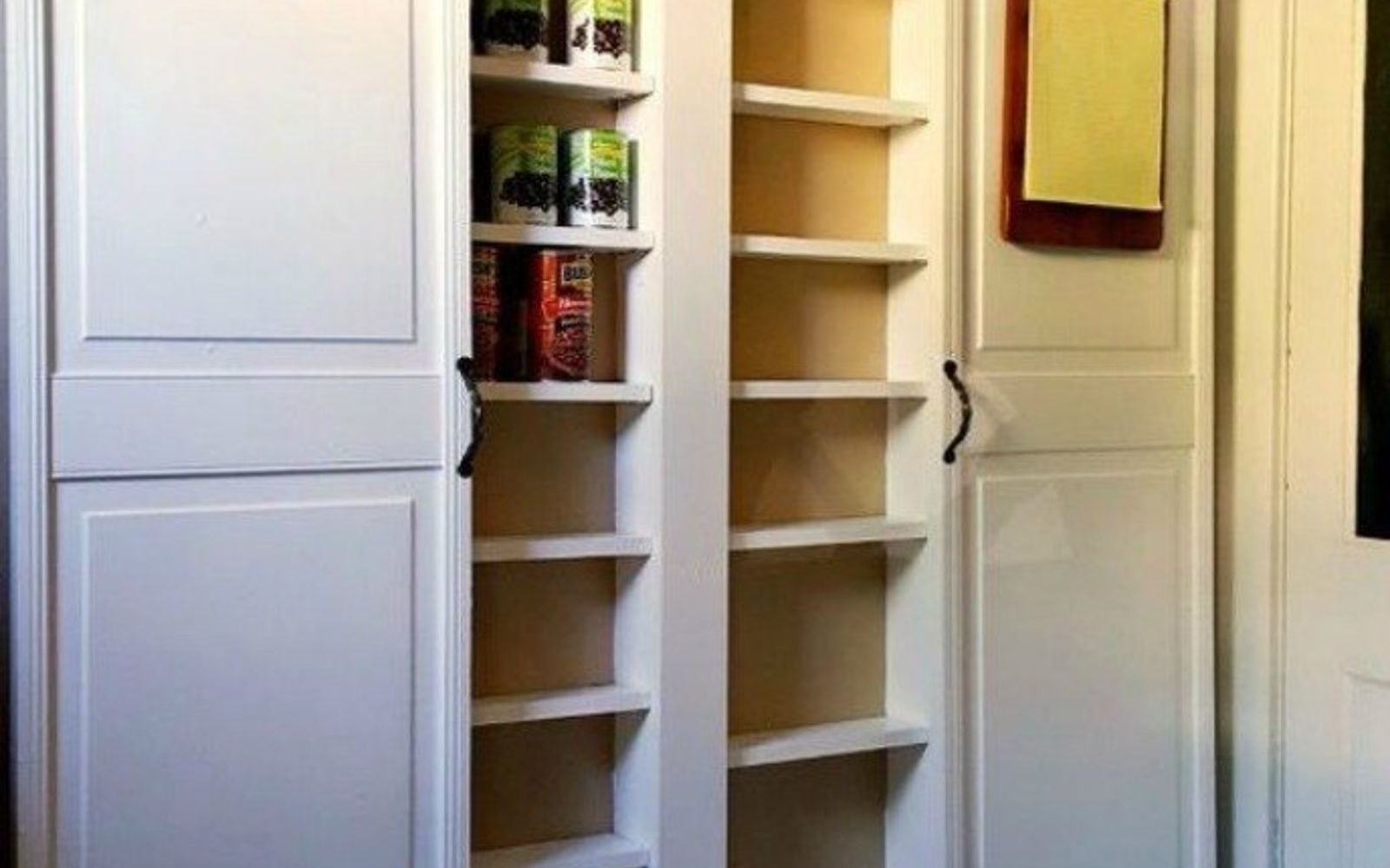s add more pantry space with these brilliant hacks, closet, Build your own small pantry shelf